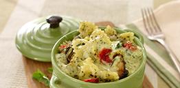 Tuscan Vegetable Pesto Bake