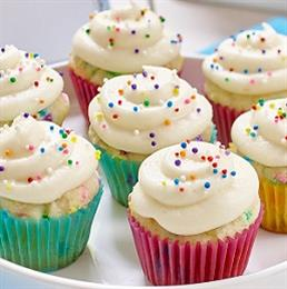 Tie–Dyed Mini Cupcakes