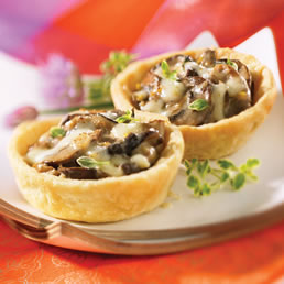 Creamy Mushroom Tarts | Appetizers and Snacks | Featured Recipe