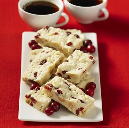 White Chocolate and Dried Cranberry Fudge