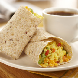 Scrambled Egg Tortilla Wraps Recipe | Breakfast and Brunches ...
