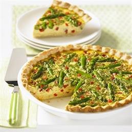 Asparagus Custard Quiche