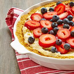 Tarte à la crème et aux petits fruits