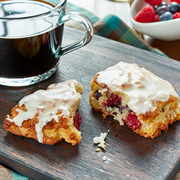 Berry & White Chocolate Scones