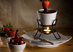 Chocolate Honey Almond Fondue Recipe