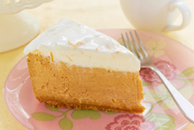 Pumpkin Orange Cheesecake with Orange Sour Cream Topping Recipe