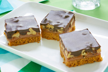 Caramel Nut Chocolate Squares Recipe