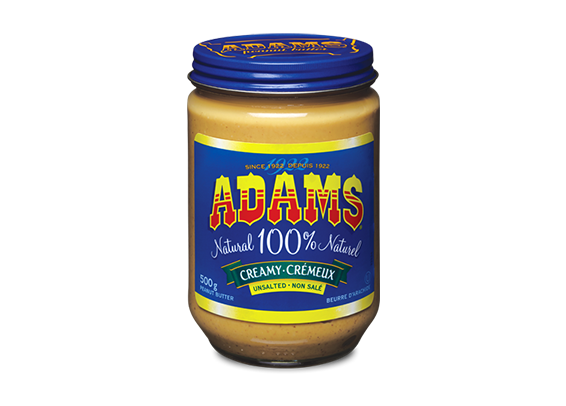 Adams<sup>®</sup>  100%  Natural Creamy Unsalted Peanut Butter