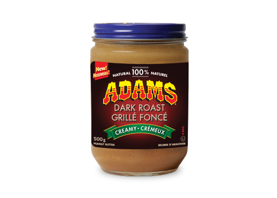 Adams® 100% Natural Dark Roast Creamy Peanut Butter