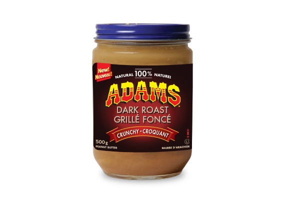 Adams® 100% Natural Dark Roast Crunchy Peanut Butter