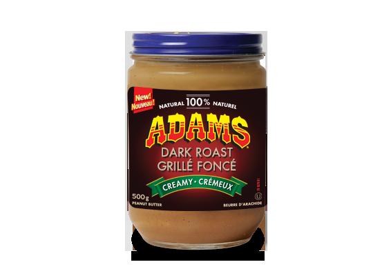 Beurre d'arachide crémeux Adams<sup>®</sup> 100 % naturel grillé foncé