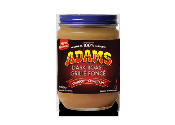 Beurre d'arachide croquant Adams<sup>®</sup> 100 % naturel grillé foncé