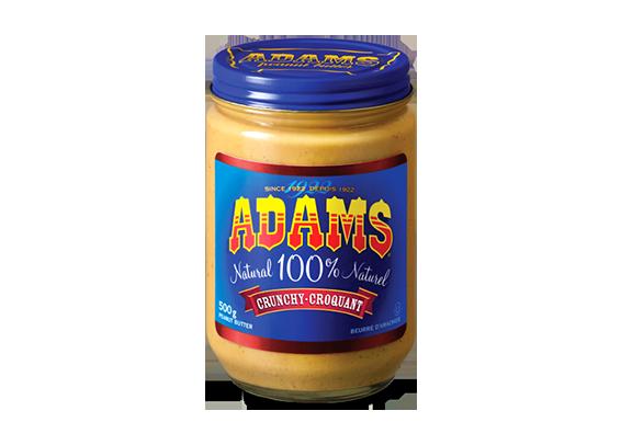 Beurre d'arachide croquant Adams<sup>®</sup> 100 % naturel