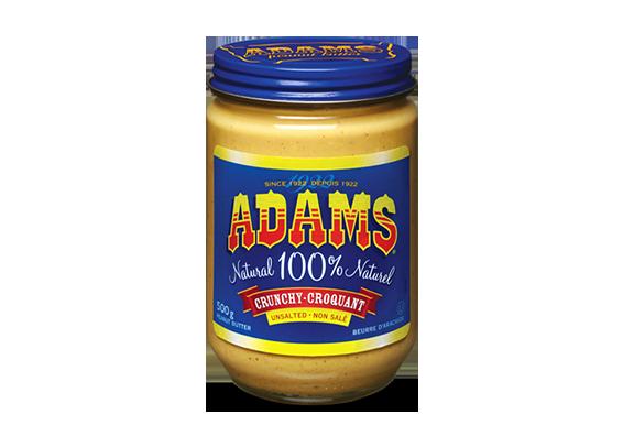 Beurre d'arachide croquant Adams<sup>®</sup> 100 % naturel non salé