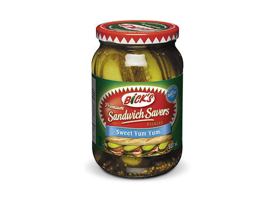 <strong>Bick's<sup>®</sup> Sandwich Savers  Yum Yum<sup>®</sup></strong> Sweet Pickles