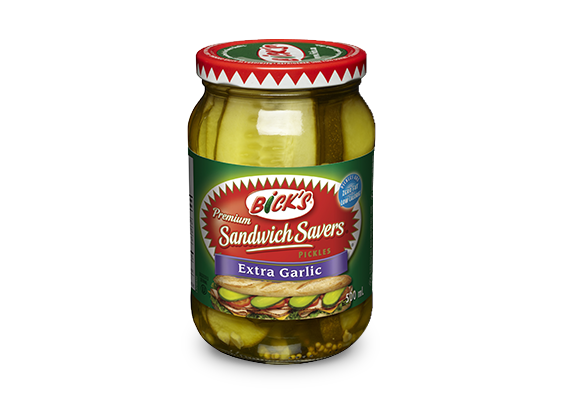 <strong>Bick's<sup>®</sup> Sandwich Savers<sup>®</sup></strong> Extra Garlic Pickles