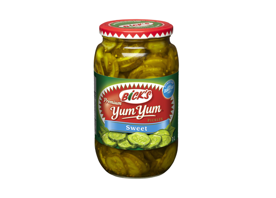 <strong>Bick's<sup>®</sup> Yum Yum<sup>®</sup></strong> Sweet Pickles