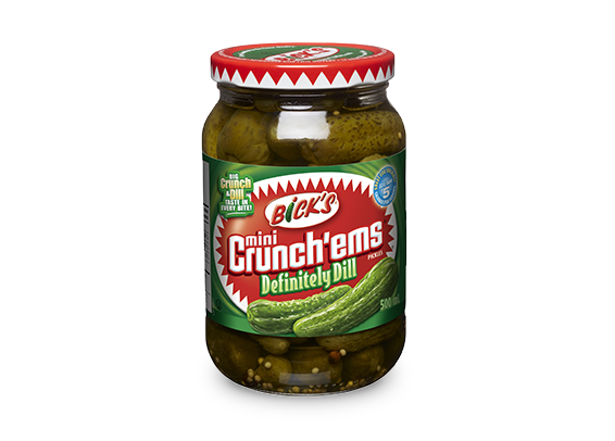 <strong>Bick's<sup>®</sup> Mini Crunch'ems<sup>®</sup></strong> Definitely Dill Pickles