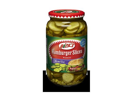 <strong>Bick's<sup>®</sup></strong> Garlic Hamburger Slices Pickles