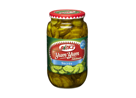Cornichons<strong> Yum Yum®</strong> Sucrés <strong>Bick's<sup>®</sup></strong>