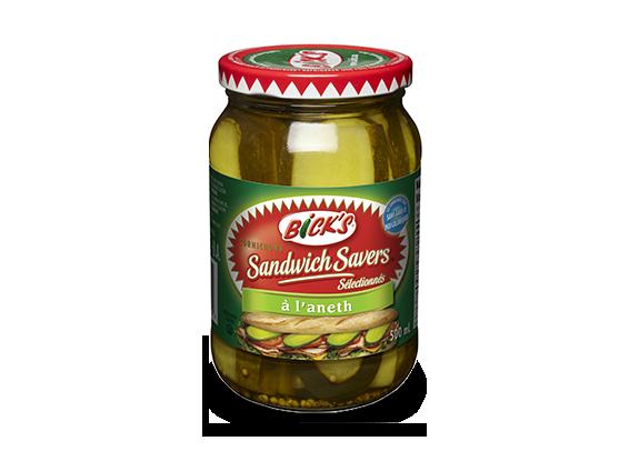 Cornichons <strong>Sandwich Savers<sup>®</sup></strong> à l'aneth <strong>Bick's<sup>®</sup></strong>
