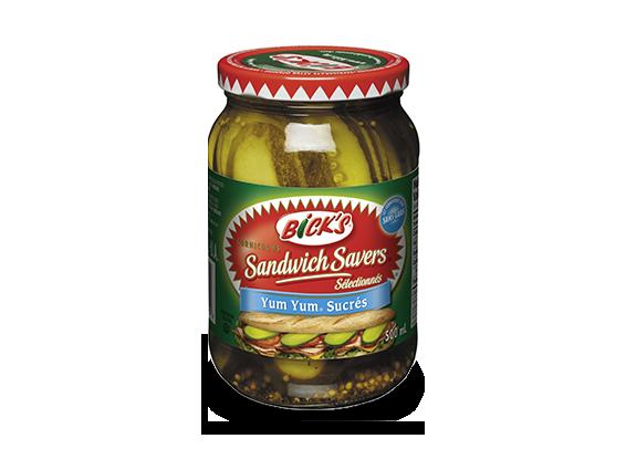Cornichons<strong> Sandwich Savers<sup>®</sup> Yum Yum<sup>®</sup></strong> Sucrés <strong>Bick's<sup>®</sup></strong>