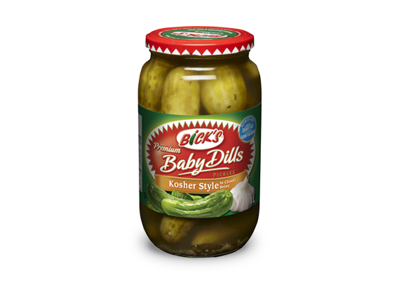 <strong>Bick's<sup>®</sup></strong> Kosher Style Baby Dill Pickles