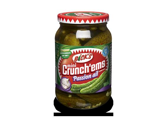 Cornichons <strong>Mini-Crunch'ems<sup>®</sup></strong> passion ail<strong> Bick's<sup>®</sup></strong>