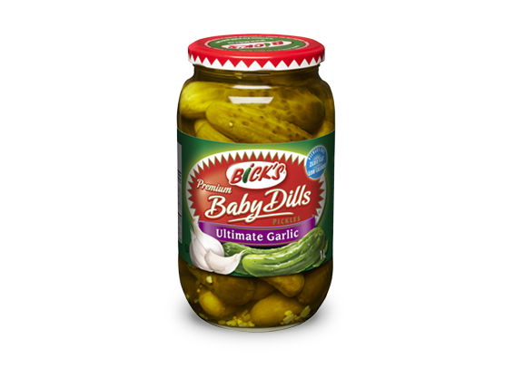 <strong>Bick's<sup>®</sup></strong> Ultimate Garlic Baby Dills Pickles