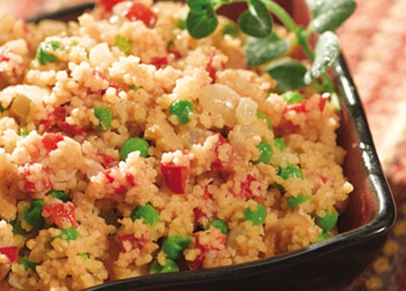 Moroccan Peanut Couscous with Peas