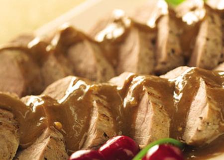 Pork Tenderloins with Asian Peanut Sauce