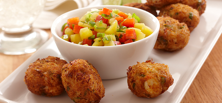 Crispy Crab Cakes with Mango Salsa
