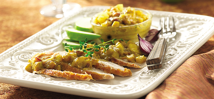 Curried Apple and Date Chutney