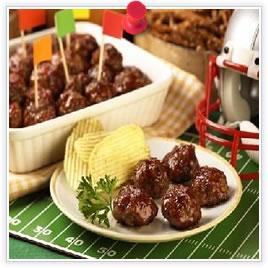 Boulettes de viande de fantaisie pour le football
