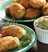 Crab Cakes with Caramelized Onion Garnish