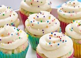 Mini Sprinkle Cupcakes