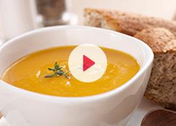 Soupe aux courges et patates douces