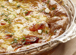 Roasted Tomato and Chevre Crustless Quiche