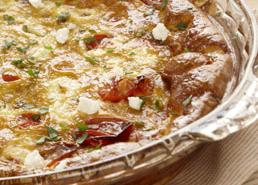 Quiche aux tomates grillées et fromage de chèvre sans croûte