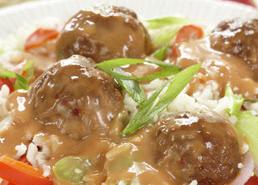 Boulettes de viande avec sauce aigre-douce