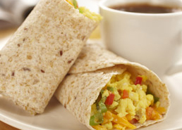 Scrambled Egg Tortilla Wraps