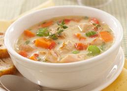 Soupe au pâté au poulet