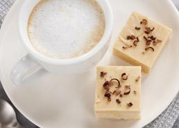 Fudge au chocolat blanc et cappuccino