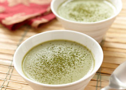 Pouding au thé vert et tofu