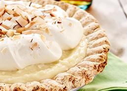 Tarte à la crème à la noix de coco