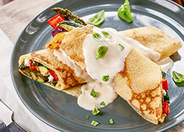 Roasted Veggie Crepes