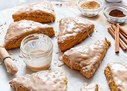 Easy Glazed Pumpkin Pie Scones