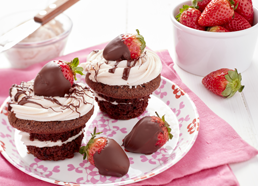 Stuffed Chocolate Cupcakes