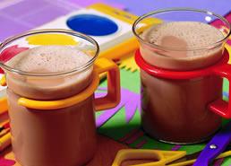 Chocolat chaud regorgeant de calcium