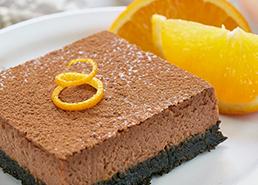 Chocolate Orange Cheesecake Bars